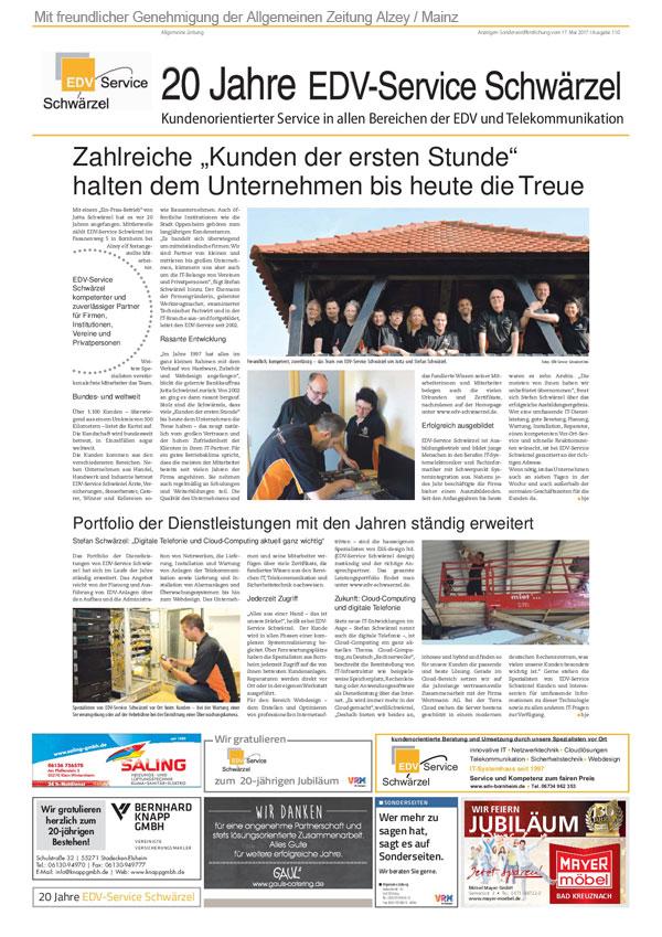 AZ-Zeitungsartikel Mainz