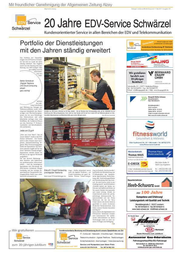 AZ-Zeitungsartikel Seite 2